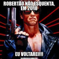 ROBERTÃO NÃO ESQUENTA, EM 2018EU VOLTAREI!!!