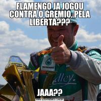 FLAMENGO JA JOGOU CONTRA O GREMIO, PELA LIBERTA???JAAA??