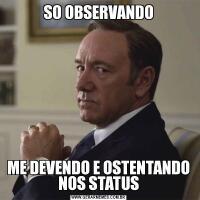 SO OBSERVANDOME DEVENDO E OSTENTANDO NOS STATUS