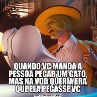 QUANDO VC MANDA A PESSOA PEGAR UM GATO, MAS NA VDD QUERIA ERA QUE ELA PEGASSE VC