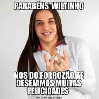 PARABÉNS  WILTINHONOS DO FORROZÃO TE DESEJAMOS MUITAS FELICIDADES