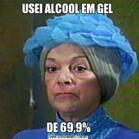 USEI ALCOOL EM GEL DE 69,9%