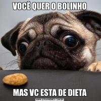 VOCÊ QUER O BOLINHOMAS VC ESTA DE DIETA