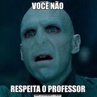 VOCÊ NÃORESPEITA O PROFESSOR