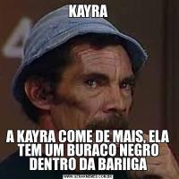 KAYRAA KAYRA COME DE MAIS, ELA TEM UM BURACO NEGRO DENTRO DA BARIIGA