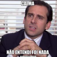 CALMA NÃO ENTENDI FOI NADA