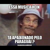 ESSA MUSICA HEIN TA APAIXONADO PELO PARAGUAI ?