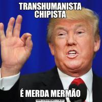 TRANSHUMANISTA CHIPISTAÉ MERDA MERMÃO