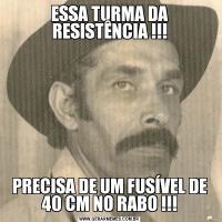 ESSA TURMA DA RESISTÊNCIA !!!PRECISA DE UM FUSÍVEL DE 40 CM NO RABO !!!