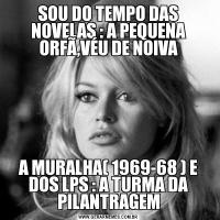 SOU DO TEMPO DAS NOVELAS : A PEQUENA ORFÃ,VÉU DE NOIVAA MURALHA( 1969-68 ) E DOS LPS : A TURMA DA PILANTRAGEM