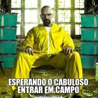ESPERANDO O CABULOSO ENTRAR EM CAMPO