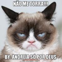 NÃO ME TORRA!!!BY: ANDREIA SÓ POR DEUS