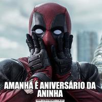 AMANHÃ É ANIVERSÁRIO DA ANINHA