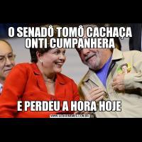 O SENADÔ TOMÔ CACHAÇA ONTI CUMPANHERAE PERDEU A HORA HOJE