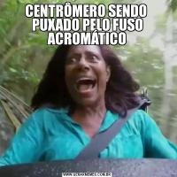 CENTRÔMERO SENDO  PUXADO PELO FUSO ACROMÁTICO