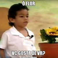 Ô FLORVC GOSTA DE VR?