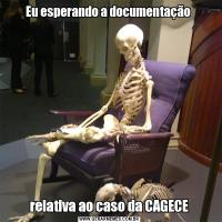 Eu esperando a documentação relativa ao caso da CAGECE