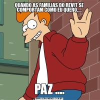 QUANDO AS FAMILIAS DO REVIT SE COMPORTAM COMO EU QUERO....PAZ ....