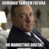 DOMINGO TAMBÉM FATURA NO MARKETING DIGITAL