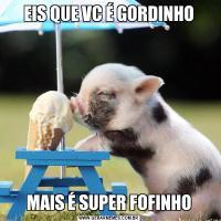 EIS QUE VC É GORDINHOMAIS É SUPER FOFINHO